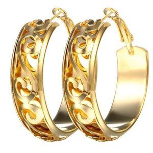925 Sterling silver Women Fashion Hoop Earrings